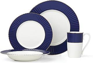 Lenox Pleated Colors Navy 4-piece Place Setting, 4.80 LB, Blue