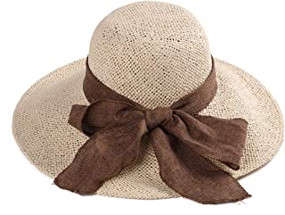 Hats Women's Sexy Summer Sun Hat Comfortable Beach Straw Hat Fashion (Color : Beige)