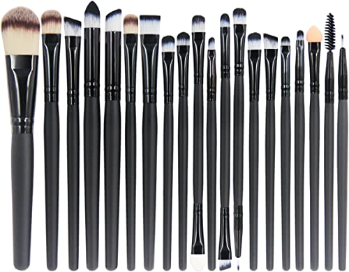 EmaxDesign 20 Pieces Makeup Brush Set Professional Face Eye Shadow Eyeliner Foundation Blush Lip Make up Brushes Powd...