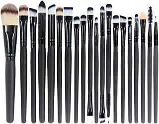 EmaxDesign 20 Pieces Makeup Brush Set Professional Face Eye Shadow Eyeliner Foundation Blush Lip Make up Brushes Powder Liquid Cream Cosmetics Blending Brush Tool
