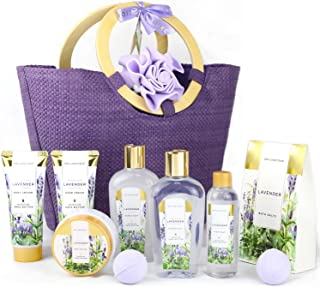 Spa Luxetique Gift Baskets for Women, Spa Gifts for Women - 10pcs Lavender Bath and Body Gift Set with Bath Bomb, Body Lot...