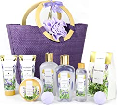 Spa Luxetique Spa Gift Baskets for Women, Lavender Bath Gift Basket, Bath Gifts for Women, Luxury 10 Pcs Home Bath Set Inc...