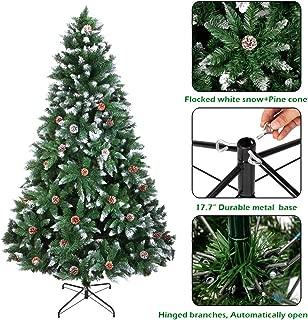 onEveryBaby Christmas Tree 7FT 1350 Branch Flocking Spray White Tree Plus Pine Cone (YJ)