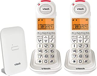 VTech CLS18451 VTECH 18450 CARELINE 2 HANDSET DECT6.0 Cordless Phone with VSMART White