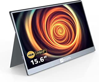 モバイルモニター/モバイルディスプレイ/ポータブルモバイルモニター ARZOPA 15.6インチ テレワーク ゲームモニター 1920x1080FHD Switch/PS4/PS5/カメラ/XBOX ONEなど対応 USB Type-C/min...