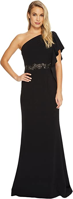 Adrianna Papell - One Shoulder Knit Crepe Gown