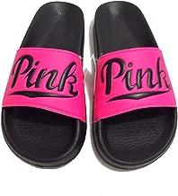 Victoria's Secret Pink Slip Slide on Sandals Flip Flop (Pink)