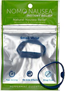 NoMo Nausea Instant Relief Small Blue Aromatherapy Anti-Nausea Bands with Acupressure