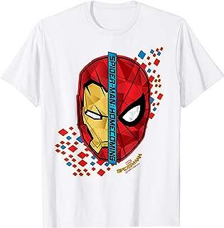 Spider-Man Homecoming Iron Man Face Split T-Shirt C1