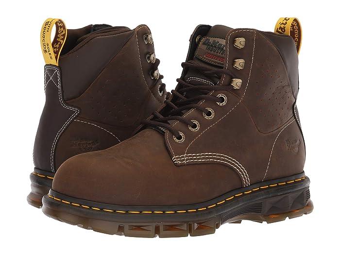 Dr. Martens Work  Britton ST (Dark Brown Republic/Dark Brown Soft PU/Dark Brown Nylon) Mens Work Boots