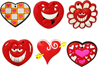 Shivexim® Cute Fruit Soft Rubber PVC Silicon Fridge Magnet, Door Magnet Pack of 6 (Heart)
