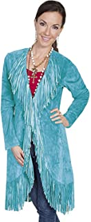 Scully Women's Boar Suede Fringed Maxi Coat - L19-81