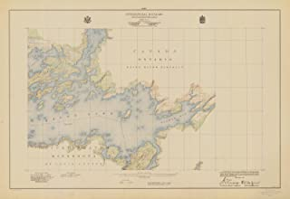 Map - International Boundary, From The Northwestern Most Point Of Lake Of The Woods To Lake Superior, Sheet No.13, MN, 1928 NOAA Topographic - Poster Wall Art Reprint - 44in x 32in