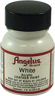 Angelus Acrylic Leather Paint - 1 Ounce, White