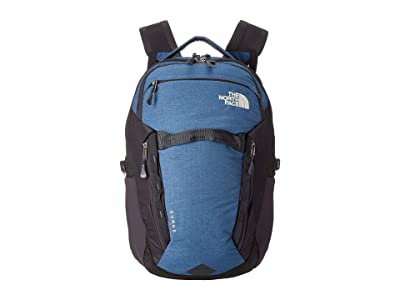 The North Face Surge Backpack (Shady Blue Light Heather/Weathered Black) Backpack Bags
