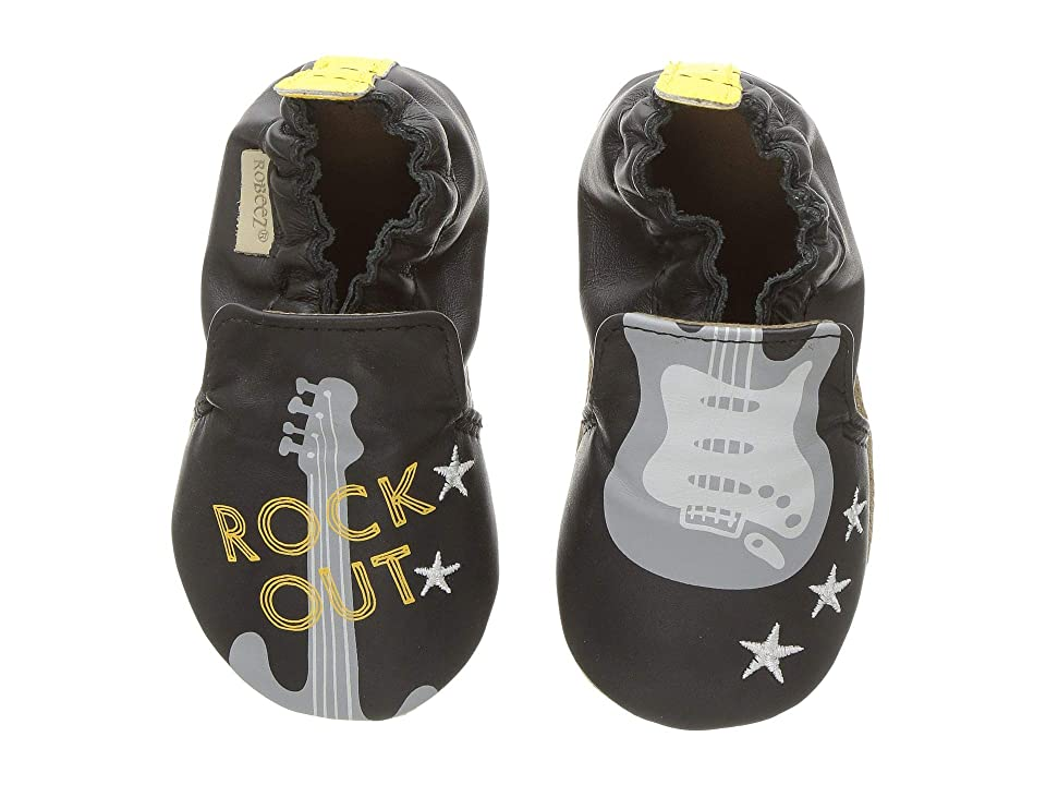 Robeez Rock Out Soft Sole (Infant/Toddler) (Black) Boy