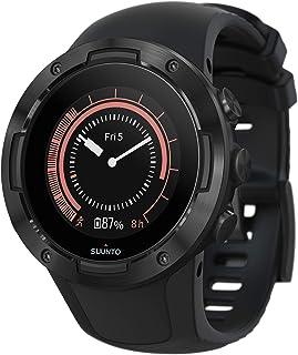 Suunto 5, Reloj multideporte GPS Unisex Adulto, Cristal mineral, Acero inoxidable/Silicona, Negro (All Black), SS050299000