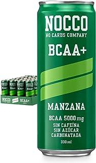 NOCCO BCAA+ Manzana 24 x 330ml Bebida energética funcional sin azúcar No Carbs Company Enriquecida con vitaminas Con o sin cafeína Bebidas funcionales