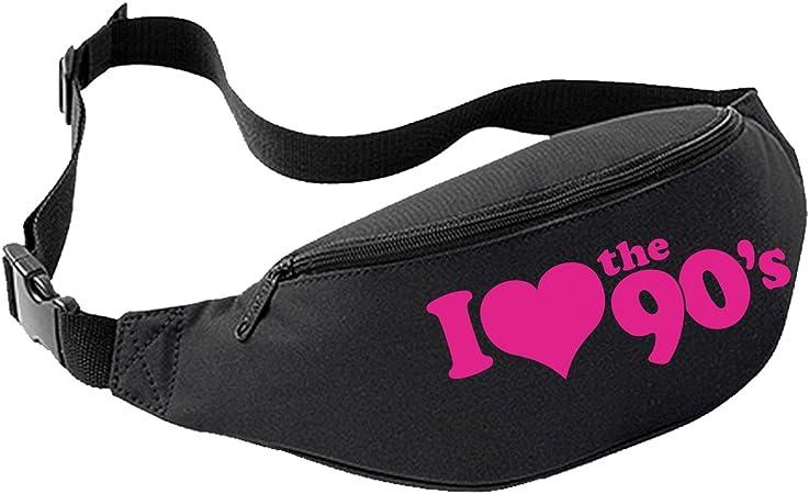 I Love The 1990s Bum Bag Fuchsia, One Size