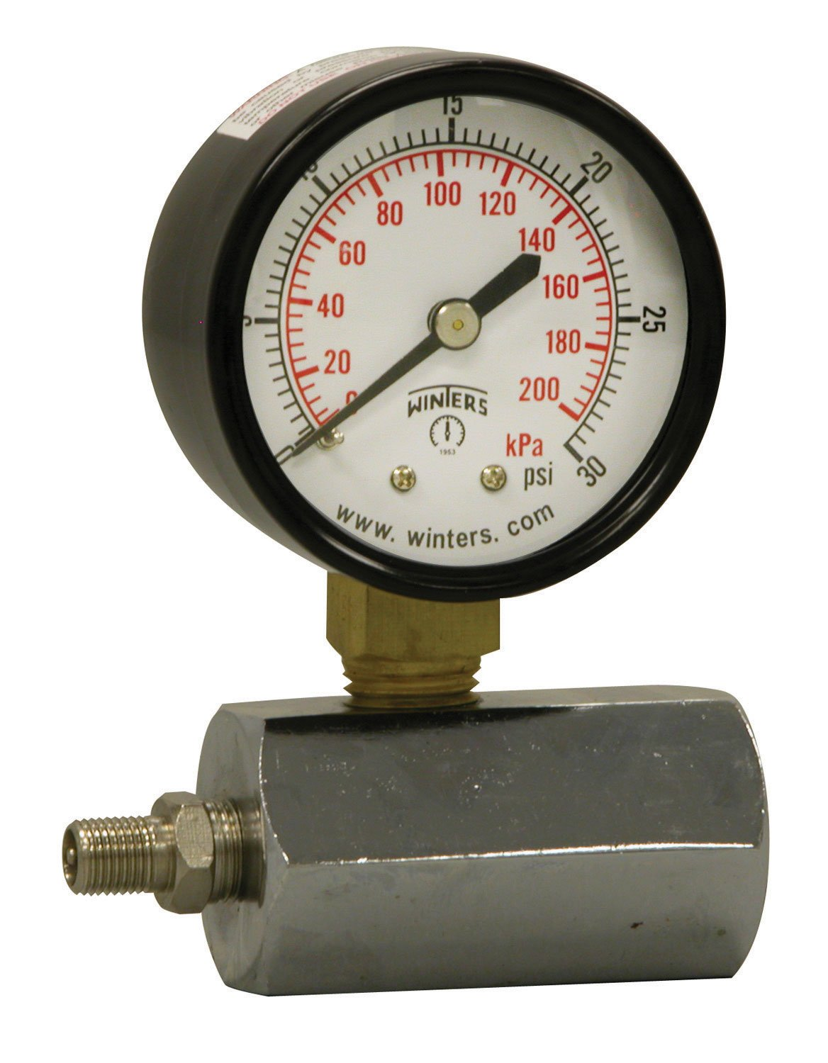Winters PET Series Max 72% OFF Steel Dual Scale Gauge with Phoenix Mall Pressure Test Gas