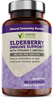 Elderberry Immune Support with Vitamin C, Zinc, Echinacea & Garlic
