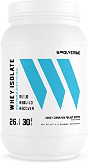 Whey Protein Isolate   26g Protein, Grass-Fed rBGH Free, Non-GMO, Added Digestive Enzymes, Delicious Honey Cinnamon Peanut...