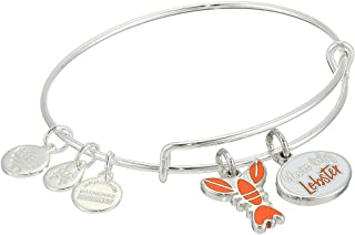Alex and ANI Friends, You're My Lobster Duo Charm Bangle Shiny Silver One Size