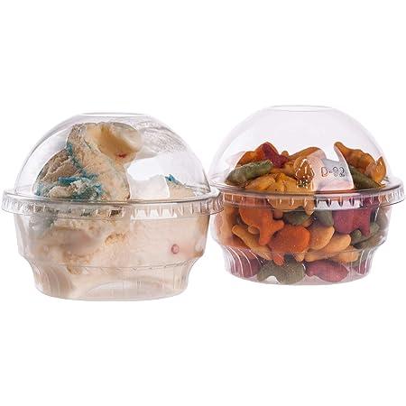Stock Your Home 6 oz Hard Plastic Dessert Cups Floral Design-100 Count