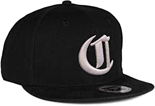 4sold Snapback Hat with Raised 3D Embroidery Letter Baseball Cap Hip-Hop Cap Hat Headwear (One Size, C)