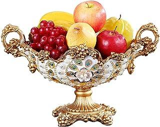 Coffee Table Fruit/Dried Fruit Plate-Creative Living Room Phoenix Tail Stick Beaded Fruit Plate, Luxury Home Retro Decorat...