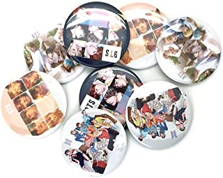 K-pop Boy Band Boy Group BTS Badge Button Pin: BTS (1 عدد تصادفی)