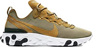a3377f87 Nike Men's React Element 55 Metallic Gold BQ6166-700 (Size: ...
