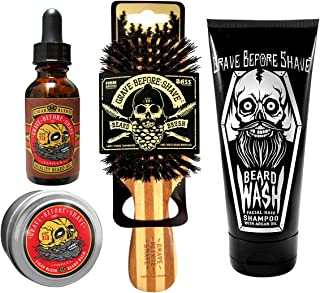 Grave Before Shave™ Beard Care Pack (Cigar Vanilla Blend)