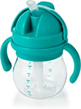 OXO Tot Transitions Straw Cup with Removable Handles, Teal, 6 Ounce