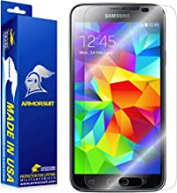 ArmorSuit FBA_320-259 Screen Protector Max Coverage MilitaryShield Screen Protector Compatible with Samsung Galaxy S5 - HD Clear Anti-Bubble Film