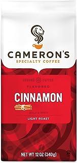 Cameron's Coffee Roasted Ground Coffee Bag, Flavored, Cinnamon, 12 Ounce