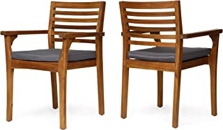Best wood patio dining chairs Reviews