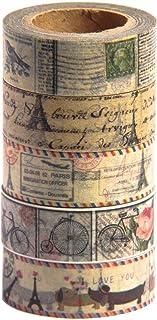 MIKOKA ブランド マスキングテープ(和紙テープ) 10 m 5巻セット アンティーク ブライト