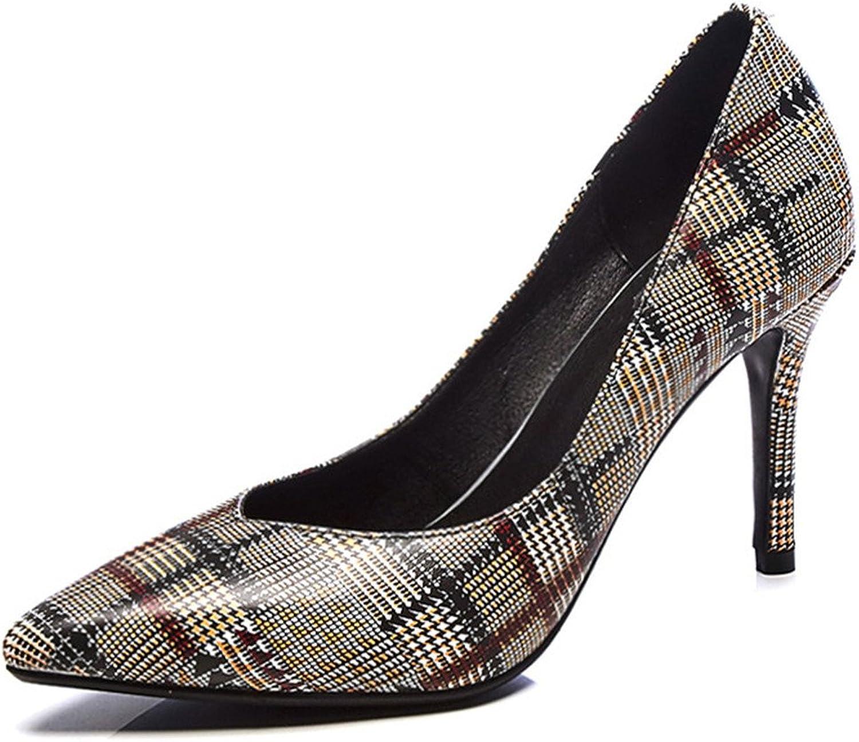 Nine Seven Cow Leather Women's Pointed Toe Stiletto Heel Floral Style Handmade Elegant High Heels