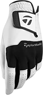 TaylorMade Golf 2018 Stratus Leather Mens Breathable Golf Glove Pack Of 1 Left Hand White/Black Small