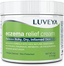 Eczema & Dermatitis Cream for Dry, Itchy, Cracked Skin Relief. Best Moisturizer Lotion for Face, Body & Scalp Rashes. 100%...