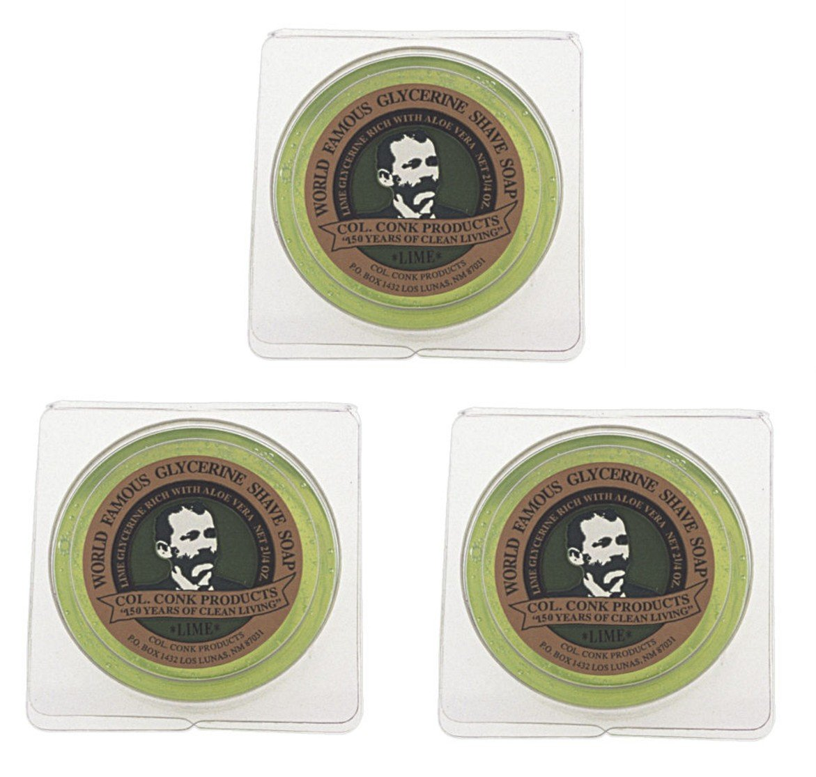 Col. Conk World's Famous Shaving Sales results No. 1 Soap Lime Pack 3 Max 88% OFF pi Each --