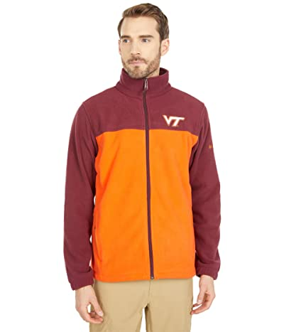 Columbia College Virginia Tech Hokies Flankertm III Fleece Jacket (Deep Maroon/Tangy Orange) Men