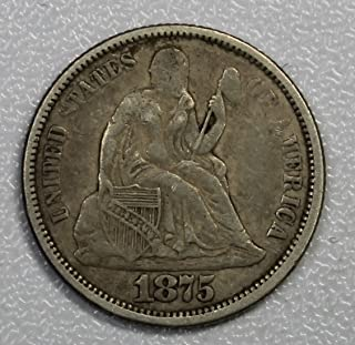 1875 P Seated Dime 10c Very Fine+