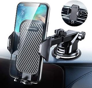 【2019進化版】DesertWest 車載ホルダー 2in1スマホホルダー 粘着式&吹き出し口兼用 360度回転 伸縮アーム 車 スマホスタンド ワンタッチ 片手操作/自由調節/日本語説明書付き/4-7インチ多機種対応 iPhoneXS Max/Xs/Xr/X/8/7/6 Plus/Samsung Galaxy S10/S10+/S9/S8/S7/Sony/Huaweiなど