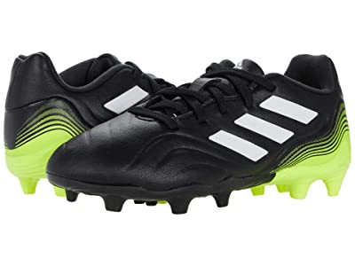 adidas Kids Copa Sense.3 Firm Ground Soccer (Little Kid/Big Kid) (Black/White/Solar Yellow) Kid