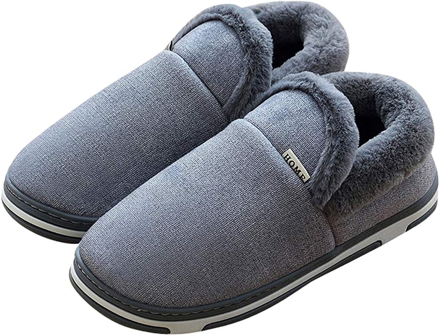 Tuoup Mens Winter Fuzzy House shoes Outdoor Indoor Bootie Slippers