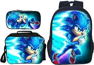 Warning May Start Talking About Sonic The Hedgehog Backpack Daypack Rucksack Laptop Shoulder Bag with USB Charging Port