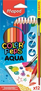 Maped Color'Peps Triangular Watercolor Pencils, Assorted Colors, Pack Of 12 (836011Zv)