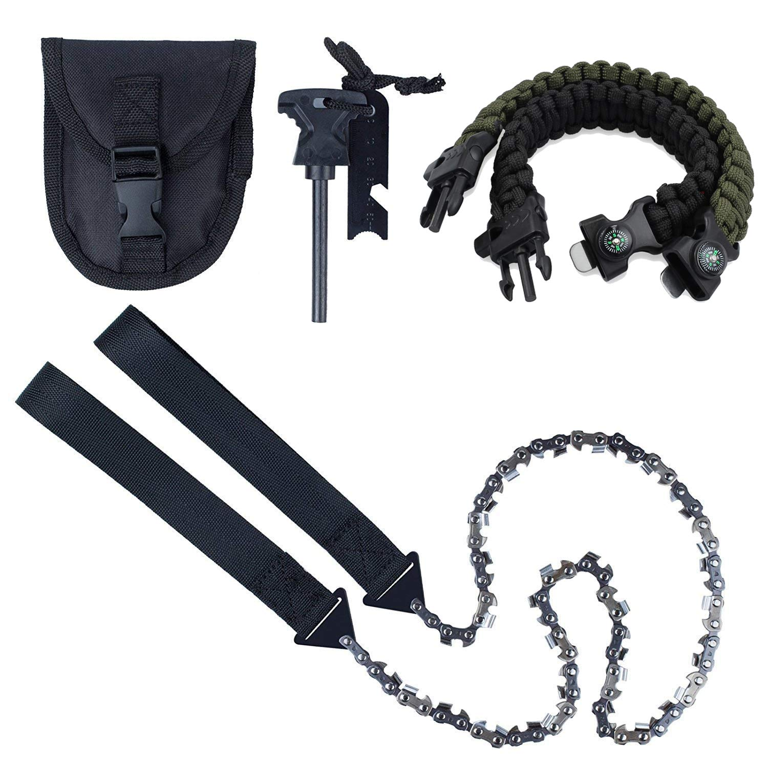 Pocket Hand Chainsaw Outdoor Survival Camping Hiking Wood Cutting Chain Saw Tool
